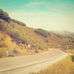 Road in Cantabria