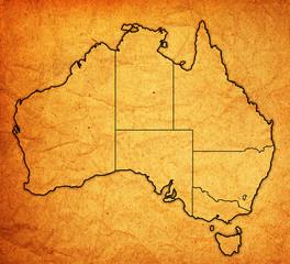 territories on map of australia