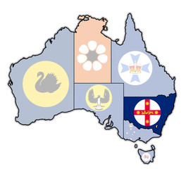 new south wales on map of australia