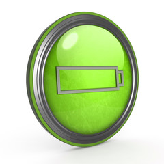 battery circular icon on white background