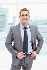 Smart businessman in suit at office