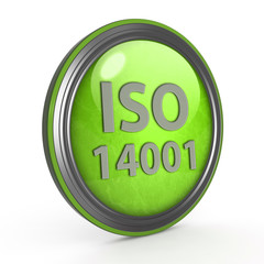 Iso 14001 circular icon on white background