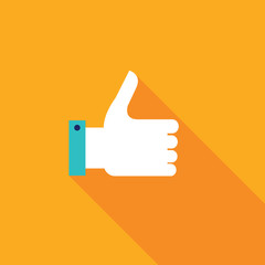 Thumbs up icon. Colorful modern flat design