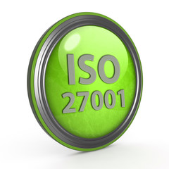Iso 27001 circular icon on white background