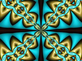 Fond d'écran bleu doré