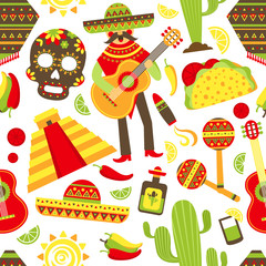 Mexico seamless pattern