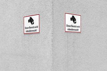 Schild Videoüberwachung © Matthias Buehner