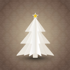 Christmas Tree Brown Background Ornaments