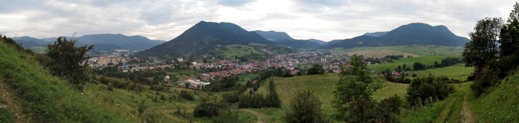 Ruzomberok from Mnich hill in Slovakia