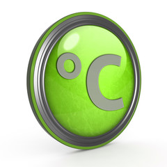 Celsius circular icon on white background