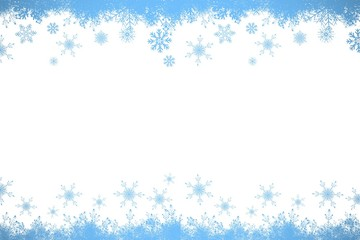 Snow flake frame in blue