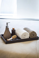 Spa Treatment set with Towels and Brush