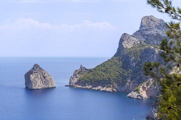 Broken rock near Cape Formentor, Majorca