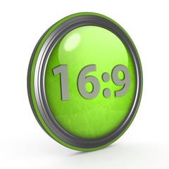 16:9 circular icon on white background