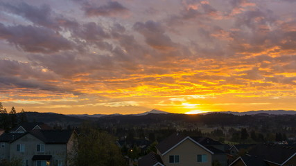 Time Lapse of Sunrise and Clouds over Happy Valley in OR