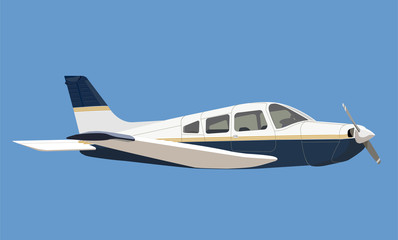 light aircraft illustration