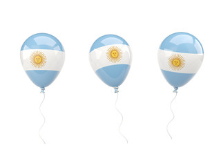 Air balloons with flag of argentina