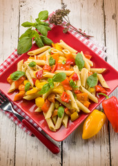 pasta with capsicum and basil