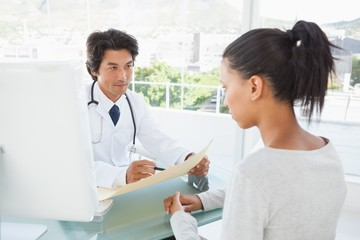 Doctor telling patient her results