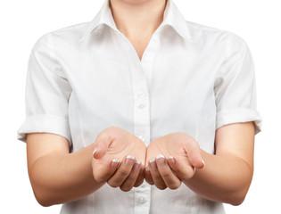 Оpen female hands.