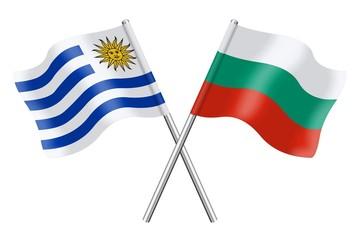 Flags: Uruguay and Bulgaria