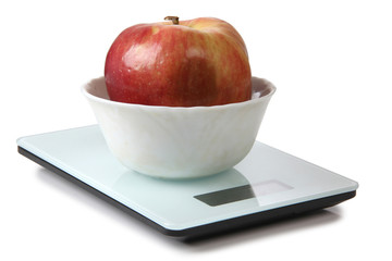 Apple on scales