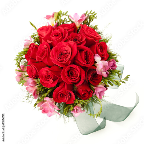 canvas print picture Bouquet seen from above