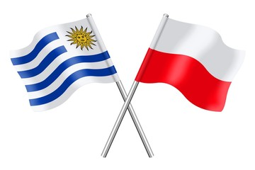 Flags: Uruguay and Poland