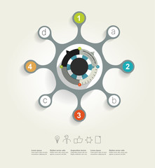 Circle network diagram. Infographic chart.