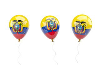 Air balloons with flag of ecuador
