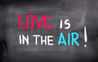 Love Is In The Air Concept