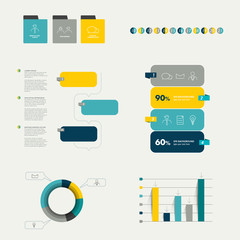 Flat infographic collection.