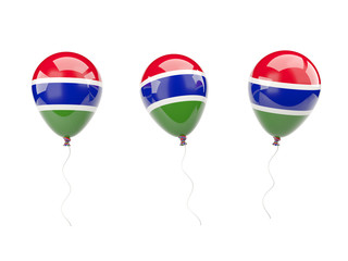 Air balloons with flag of gambia