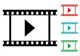 Pictograma video con varios colores