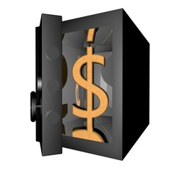 Dollar in vault