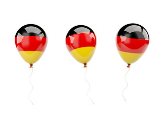 Air balloons with flag of germany