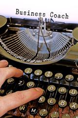 Alte Schreibmaschine, Business Coach Wort