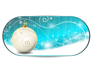 weihnachten landschaft banner blau
