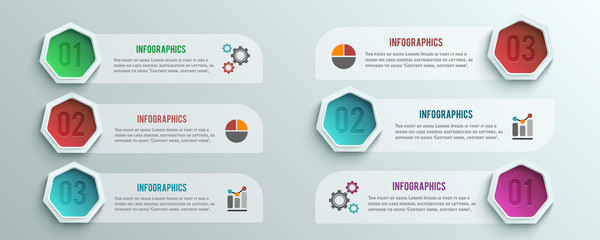 Business infographics banner origami style
