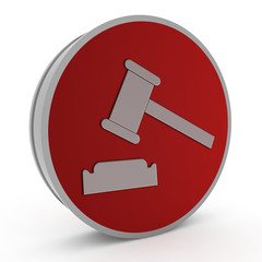 Auction circular icon on white background