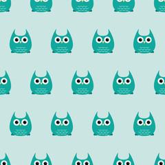 Seamless pattern - owls