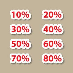 Set of sale percents