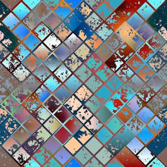 Grunge diagonal mosaic.