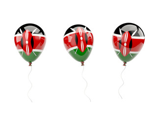 Air balloons with flag of kenya