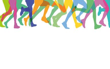 Läufer in der Gruppe