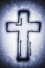 Kreuz - grau