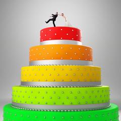 funny wedding cake
