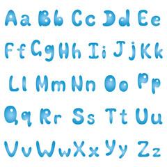 Alphabet, blue