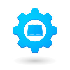 Gear icon with a book