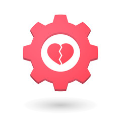 Gear icon with a heart